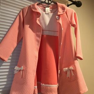 Other - Pink dress with trench coat